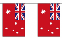 AUSTRALIA RED ENSIGN BUNTING - 3 METRES 10 FLAGS